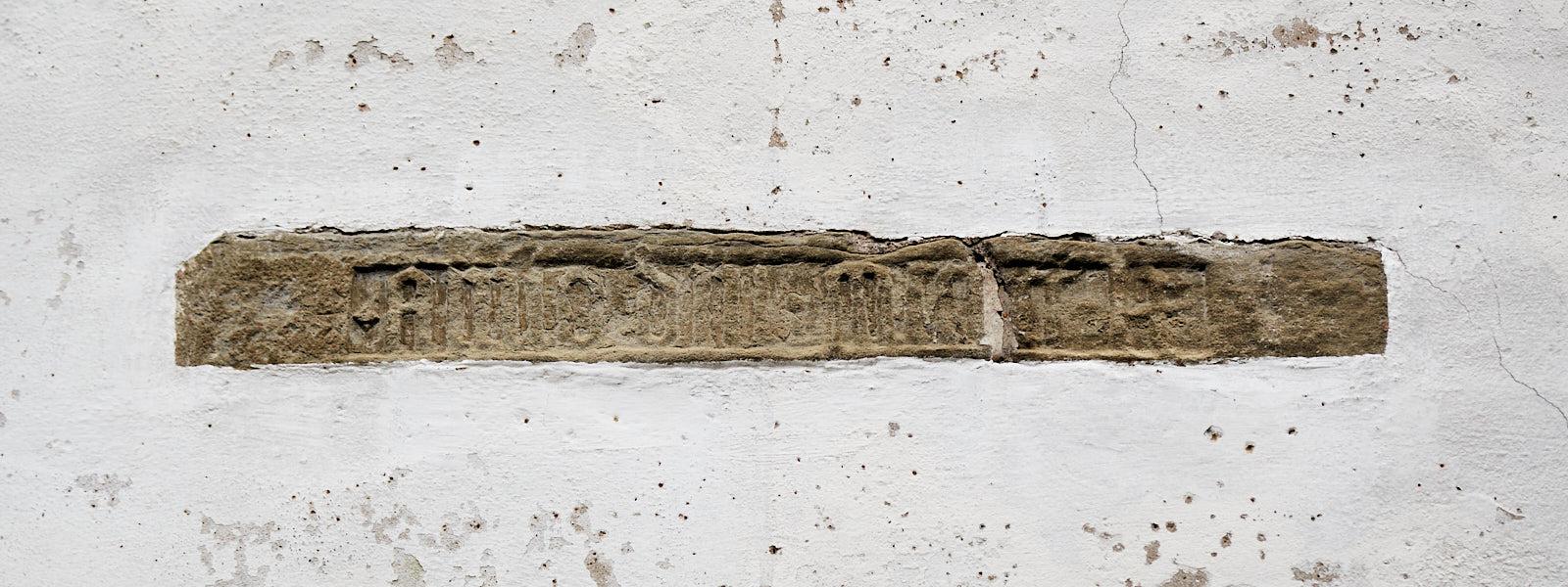 Inschrift Grundsteinlegung 1560